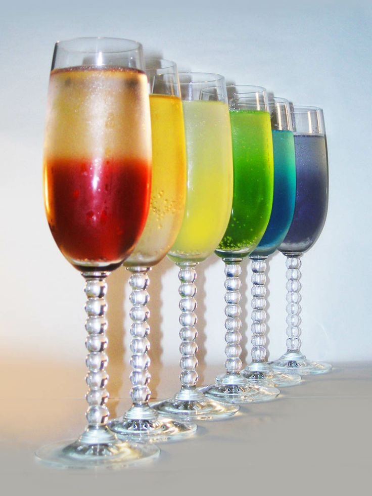Rainbow Champagne Cocktails, how to make