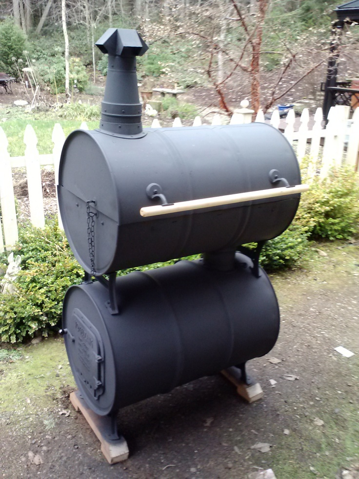 My Double Barrel Smoker Bbq Gear Pinterest Barrel