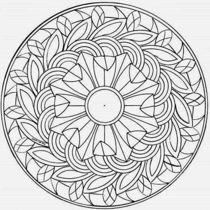 Coloring Pages for Adults - Free Large Images | 712x711