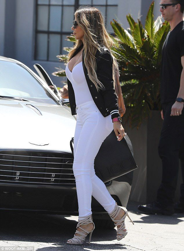 Friends and Family: Larsa Pippen was also at the filmed lunch wearing a sexy white look ...
