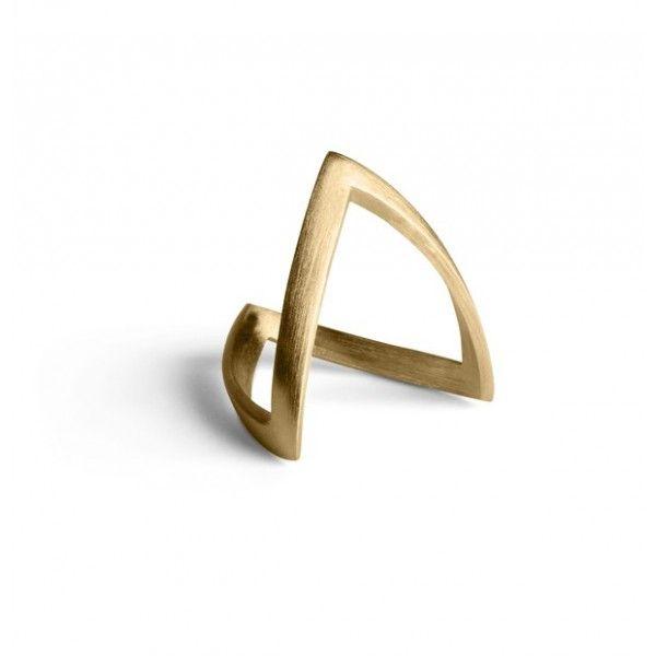 Jane Kønig V-ring - guld - Smykker - Accessories - Mode