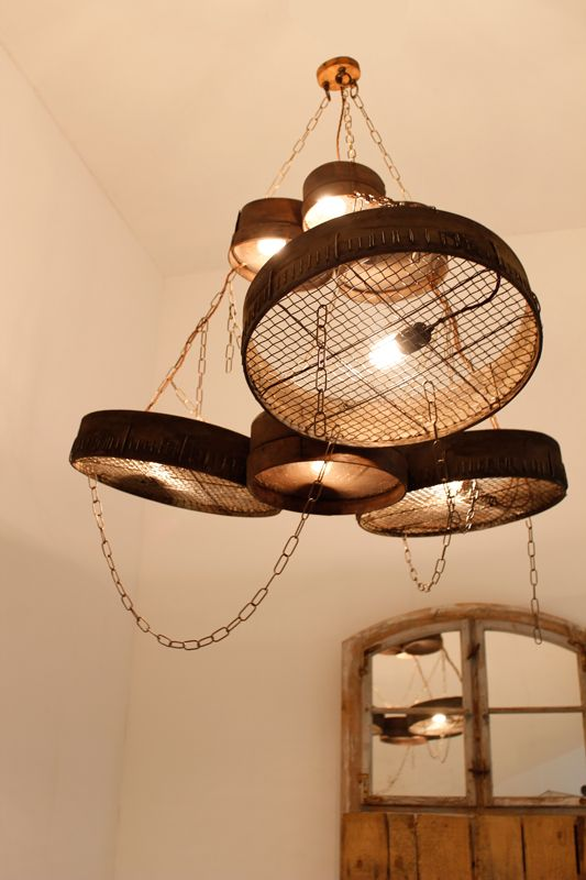 Great idea with sieves for lighting