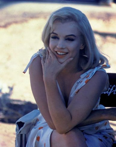 Marilyn Monroe on the set of the 1961 film, The Misfits.