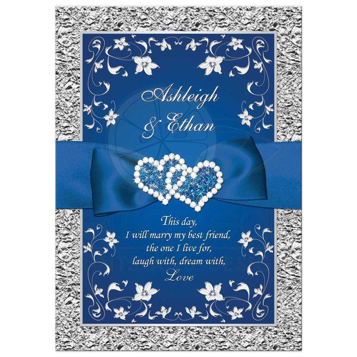 Cheap Blue Wedding Invitations: Royal Blue Wedding Invitation