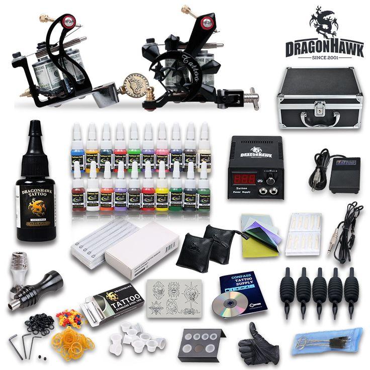 Professional Tattoo Kit 21 color Ink Power Supply 2 Machine Guns [DIY-416(3.0)] - US$85.99 : Dragonhawk tattoo supplies, tattoo kits,tattoo machines for sale global form tattoodiy.com