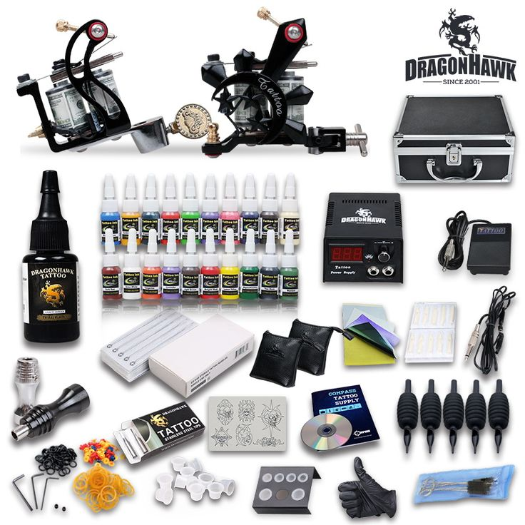 Professional Tattoo Kit 21 color Ink Power Supply 2 Machine Guns [DIY-416(3.0)] - US$85.99 : Dragonhawk tattoo supplies, tattoo kits,tattoo machines for sale global form tattoodiy.com