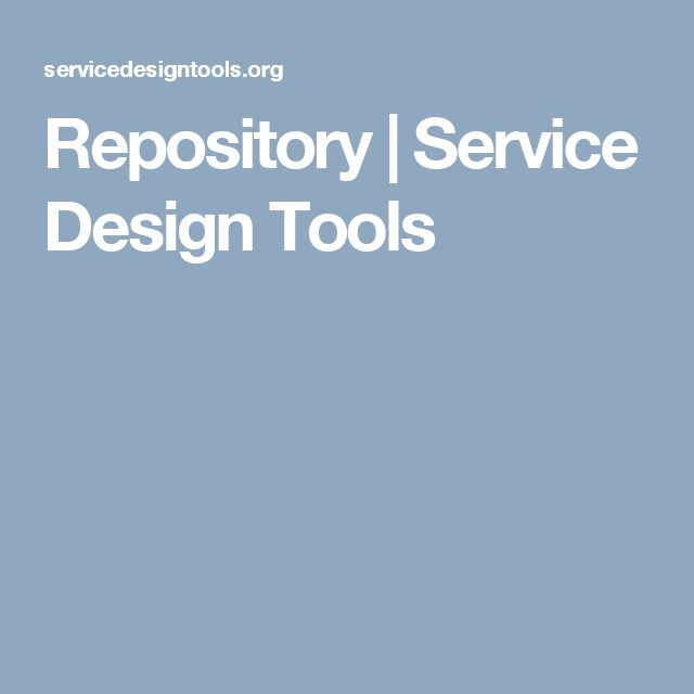 Repository | Service Design Tools