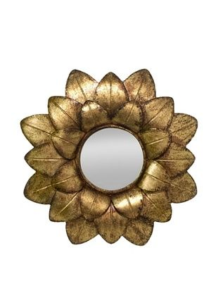 38% OFF Three Hands Flower Petal Metal Wall Mirror