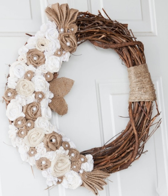 Wreath I made for carries wedding for the church doors. There were 2.