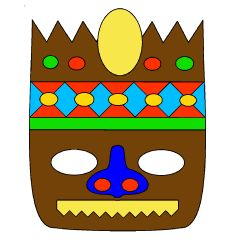 Terrifying Tikis Color Book Mask Activities for Kids