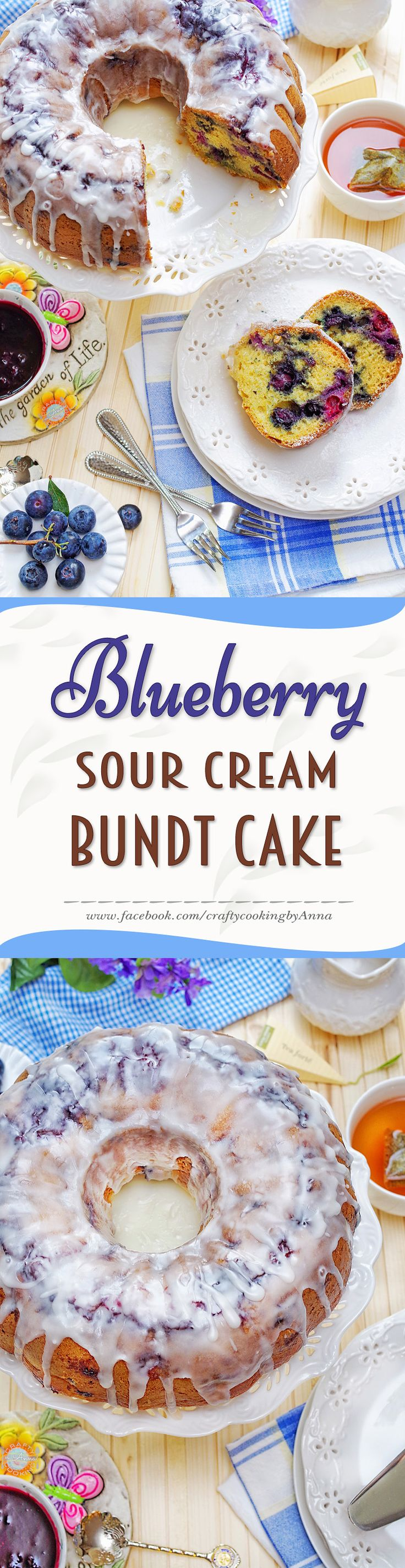 Blueberry Sour Cream Bundt Cake! #Blueberrylicious #Easy #Delicious #Everyday #Beautiful #Homecooking #Recipes #Dinner #Breakfast #Lunch #Kids #Foddie #Food #Fresh #Foodfollol #Low-Carb #Low-Cal #Yum #yummy #foodlover #tasty #foodheaven #Hungry #FollowMe #CraftyCookingByAnna If you like my recipes, please Follow Me - http://www.pinterest.com/annavil/ and https://instagram.com/craftycookingbyanna/ and Join Me -https://www.facebook.com/craftycookingbyAnna Thank you!