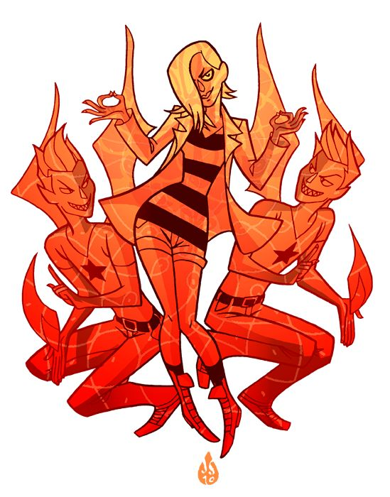 The Seven Evil Exes from Scott Pilgrim as you've never seen them before...as the opposite gender. Awesome.