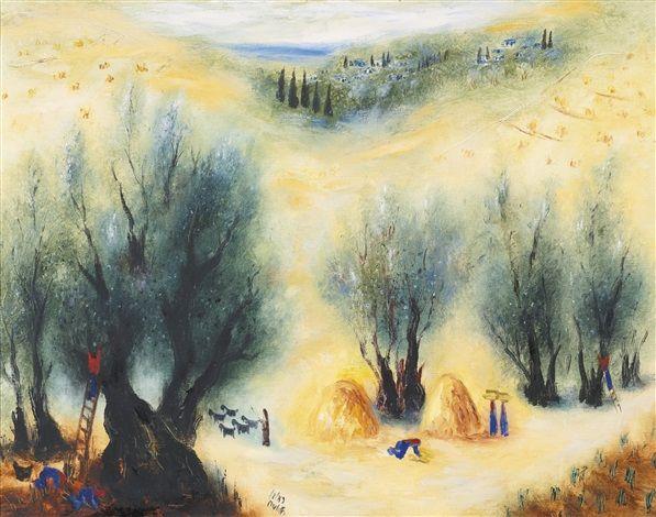 Harvest time in Galilee by Reuven Rubin