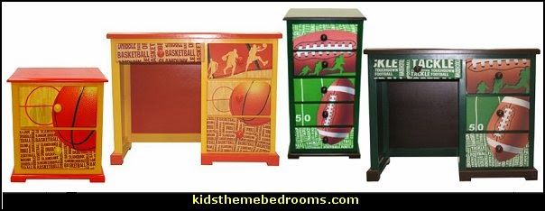 Football 50 Yard Line Kids furniture - Basketball Slam Dunk furniture