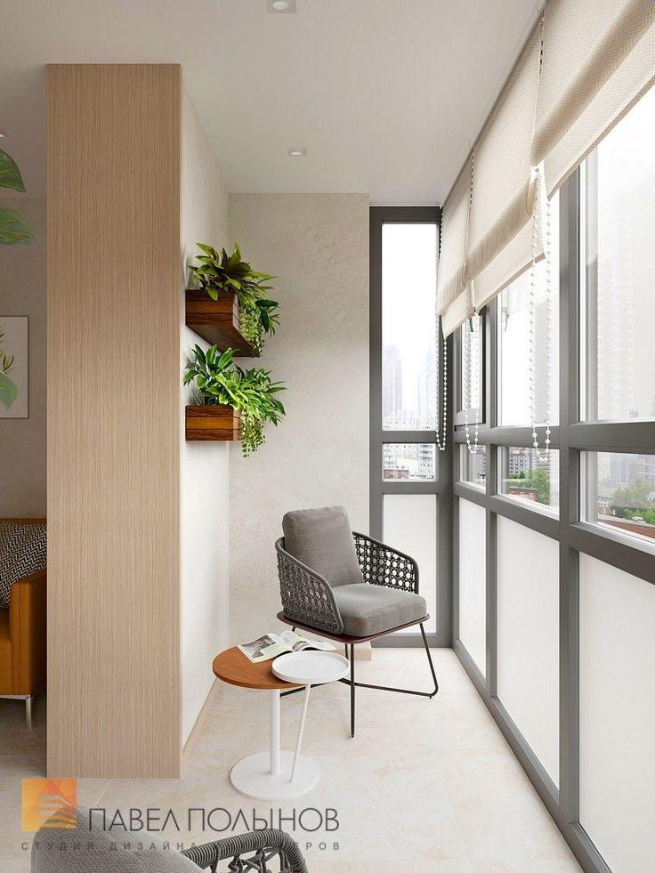 Фото дизайн лоджии из проекта «Дизайн-проект квартиры 72 кв.м., ЖК «Дом на Выборгской», современный стиль»