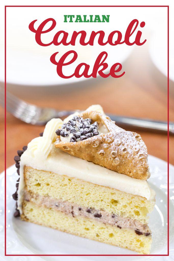 Cake Mix Cannoli Cake