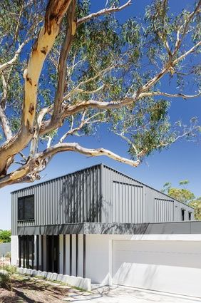 The tough steel-and-brick outer shell of the house is designed to protect it against bushfires.