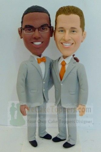 Have Interracial bald cake topper