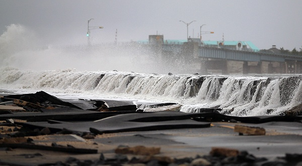 Hurricane Sandy Leaving Battered Path