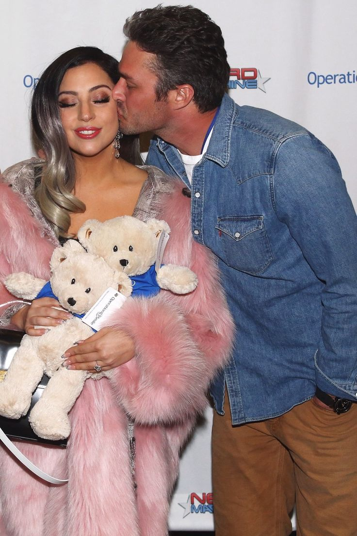 03.14.15 - Lady Gaga and Taylor Kinney at Operation Smile's charity dinner in Park City