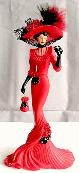 "Coca-Cola - ""Elegance of Coca Cola"" - Timeless Pause with Coca Cola Lady Figurine"