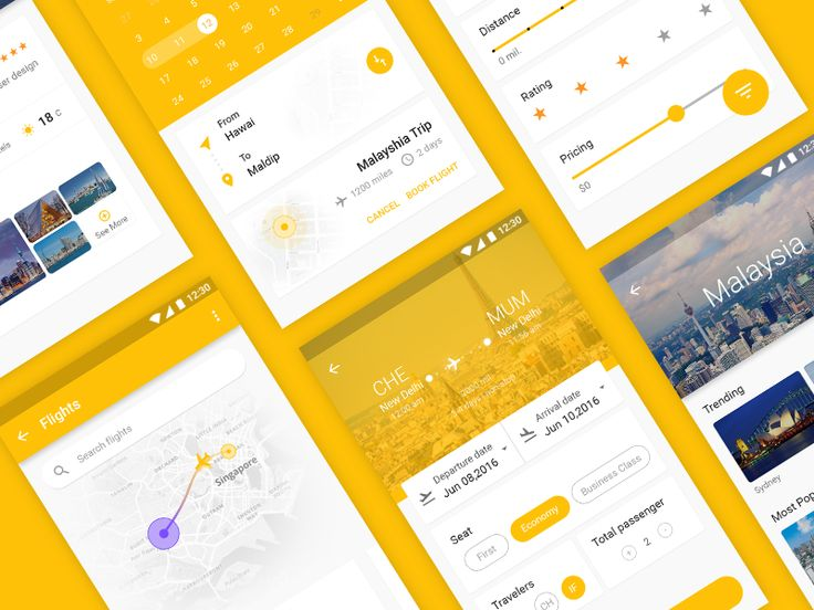 Fusion Travel App ( Material Design Concept )
