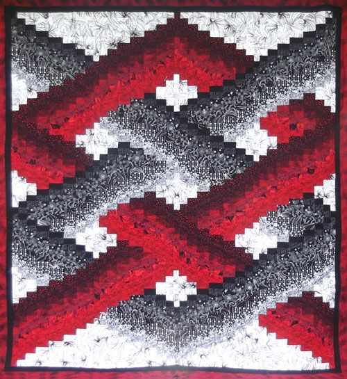 X Factor Bargello quilt by Chris Timmins (NSW).  Australasian Quilt Convention