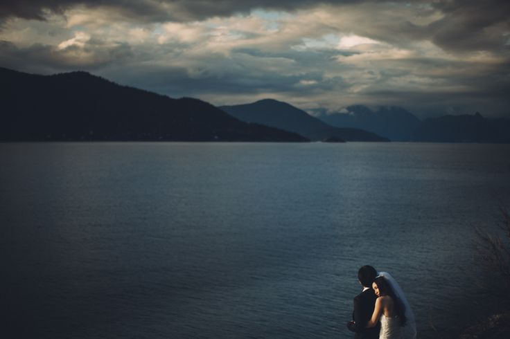 bay wedding portrait