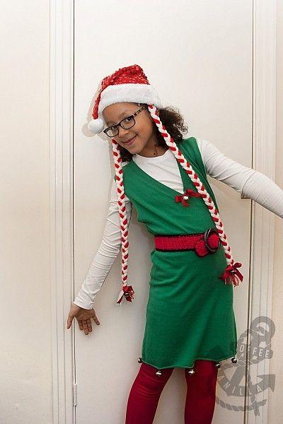 Christmas Elf Costume / Santa Helper Outfit for Girls