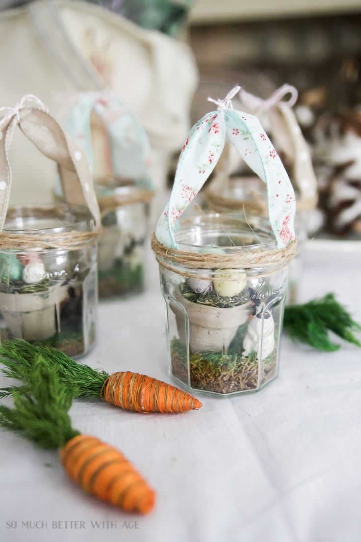 Glass Easter Jars with Bunny Ears - So Much Better With Age