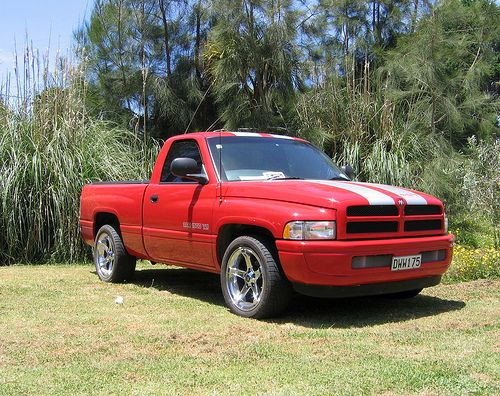 "Limited Edition Indy Pace and SS/T pkg - The Dodge Ram Indy Pace Truck was available in 1996. It included longitudinal stripes similar to those on the Dodge Viper along with an optional door sticker stating ""Official Truck of the 80th Indianapolis 50  Fo"