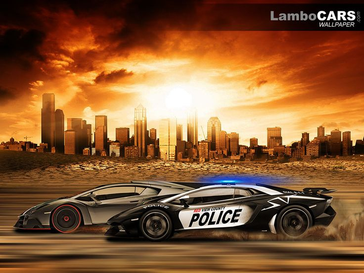 IGN published a list of cars that would be featured in Need for Speed Rivals ... and they show a Lamborghini Aventador LP800-4 SV as a police car ...