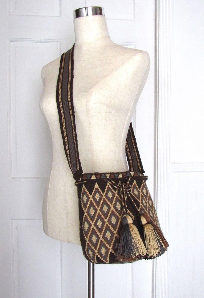 Exceptional WAYUU SINGLE THREAD MOCHILA Medium SIZE HANDMADE CROSS BODY BAG #Handmade #ShoulderBag