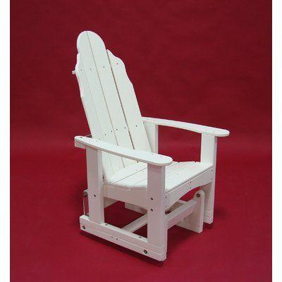 TailwindFurniture Traditional Glider Adirondack Chair Finish: Green