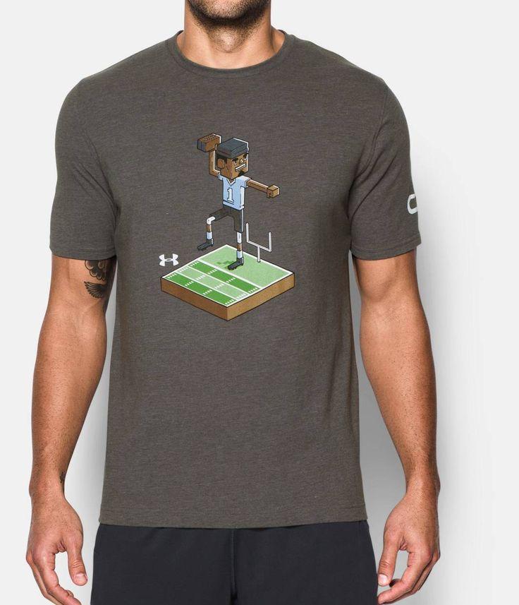 Men's UA 8-Bit Cam Newton T-Shirt, Carbon Heather, zoomed image