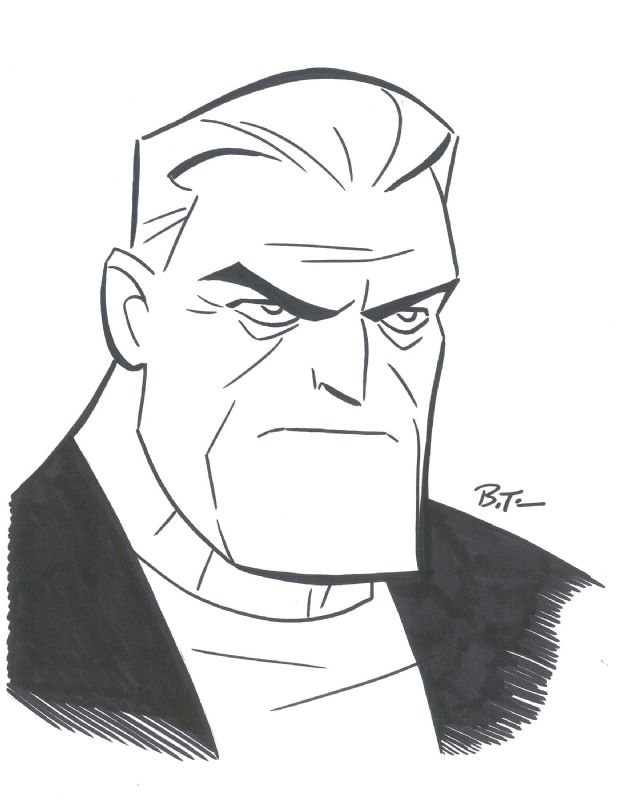 Batman Beyond Old Bruce Wayne by Bruce Timm Comic Art