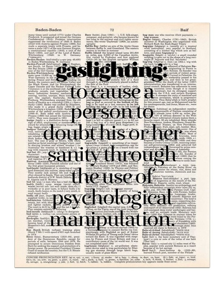 Gaslighting Definition Dictionary Print