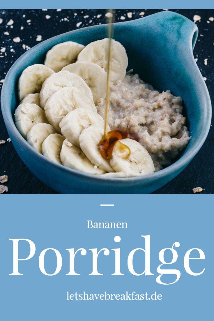 Porridge zum Frühstück...Grundrezept für Porridge mit Banane und Ahornsirup