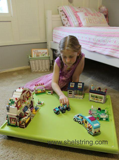 shelstring blog: Under the Bed Lego Board-Dose of DIY {Organization}