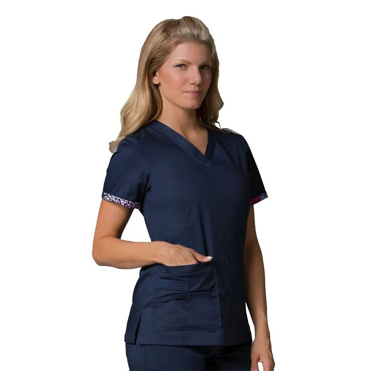 Maevn Primaflex 1722 True Navy. If you looking for designer quality nurses uniforms, dental uniforms and healthcare scrubs. Try this Maevn uniform.
