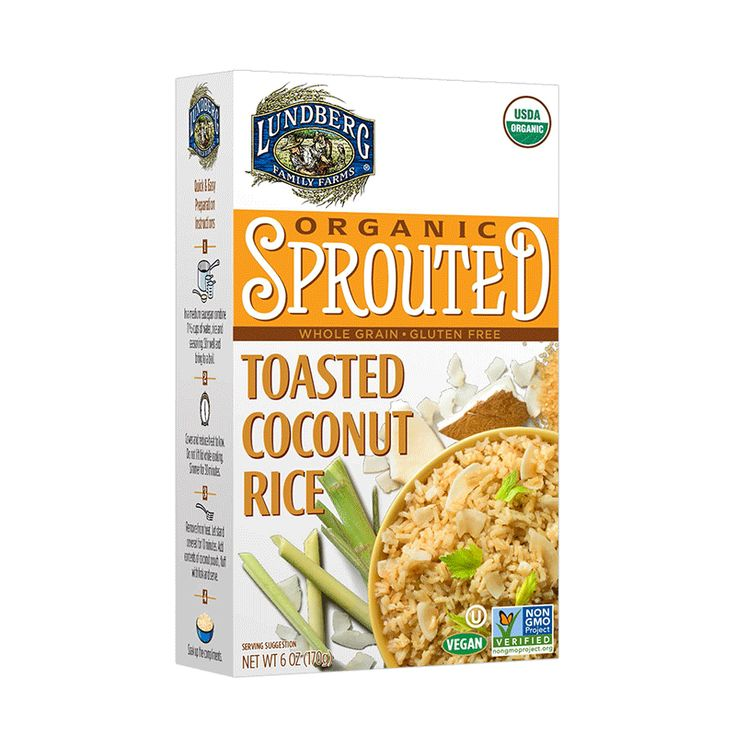 Organic Sprouted Toasted Coconut Rice | Lundberg Family Farms
