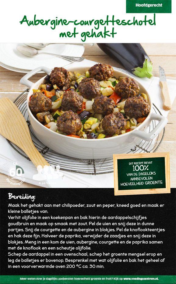 Recept voor aubergine-courgetteschotel met gehakt #Lidl
