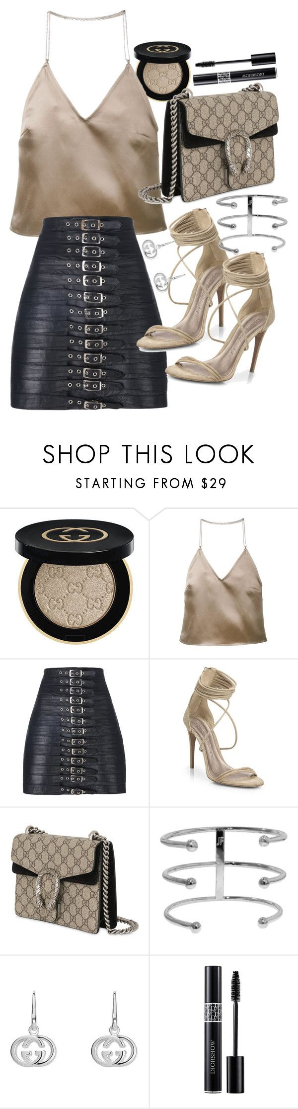 """""""Untitled #21238"""" by florencia95 ❤ liked on Polyvore featuring Gucci, Barbara Casasola, Manokhi, Burberry, Jennifer Fisher and Christian Dior"""