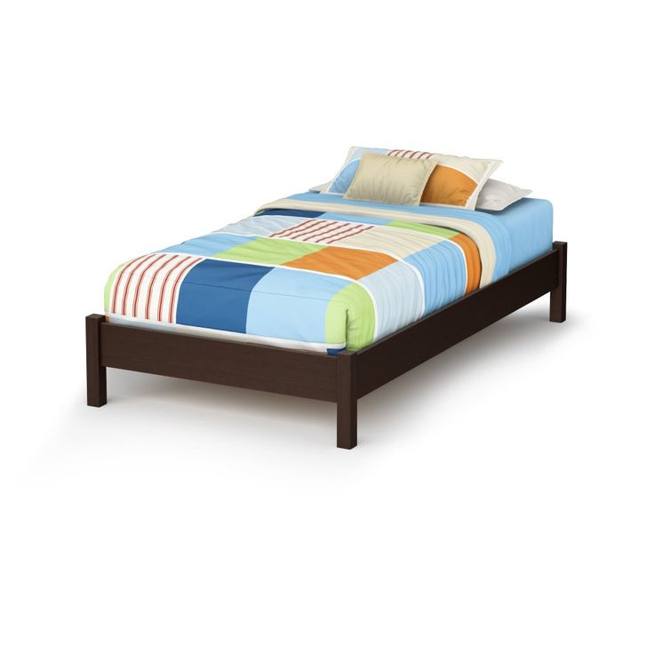south shore twin platform bed chocolate