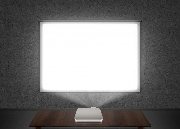 Blank Projector Screen Mockup On The Wal Premium Photo Freepik Photo Mockup Projector Screen Projector Screen