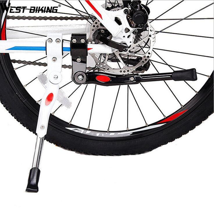 WEST BIKING Bike Bicycle Adjustable Aluminum Bike Kickstand Road Bicycle Side Stick Stand Cycling Bicycle Bike Kickstand