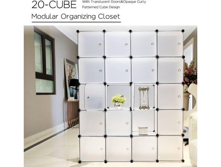20 Kubus Kunststoff Kleiderschrank Garderobenschrank Steckregal