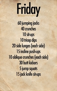 Friday workout