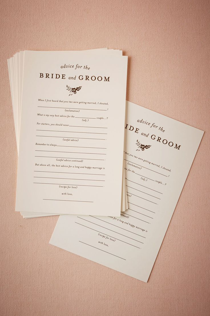 Advice for the Bride & Groom Notes (10) from @BHLDN