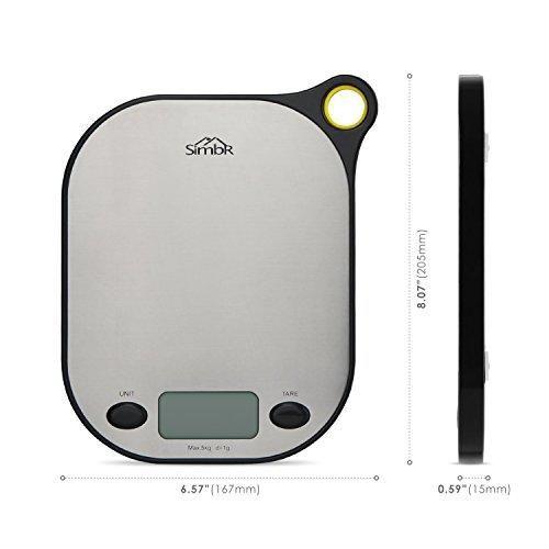 Oferta: 17.99€. Comprar Ofertas de Simbr Báscula Digital indicador de la balanza para Cocina de Alimentos y líquidos con soporte para colgar pesa 1 gramos / 5 k barato. ¡Mira las ofertas!